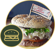 Burgers du terroir (Badge La Mangoune)
