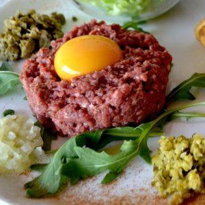 Tartare de bœuf cru ou aller-retour de La Mangoune
