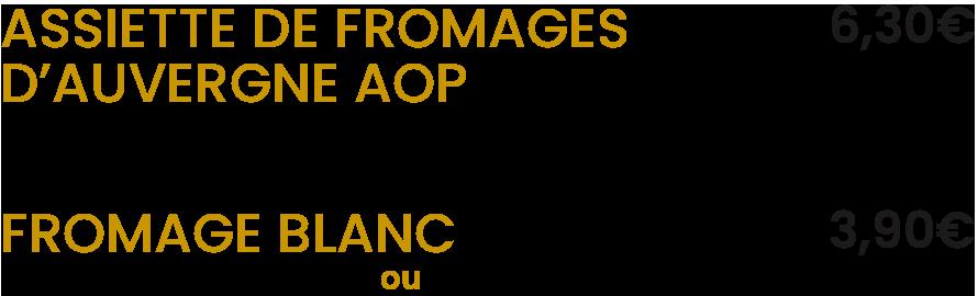 Les fromages / La Mangoune