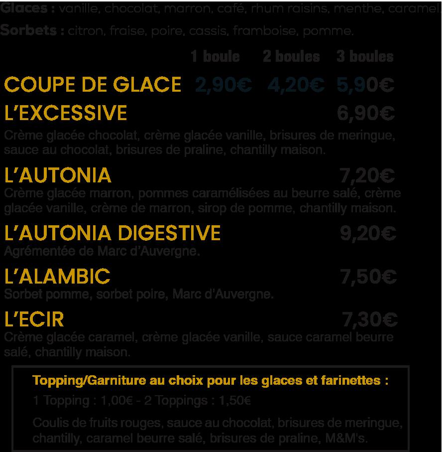 Les Glaces / La Mangoune
