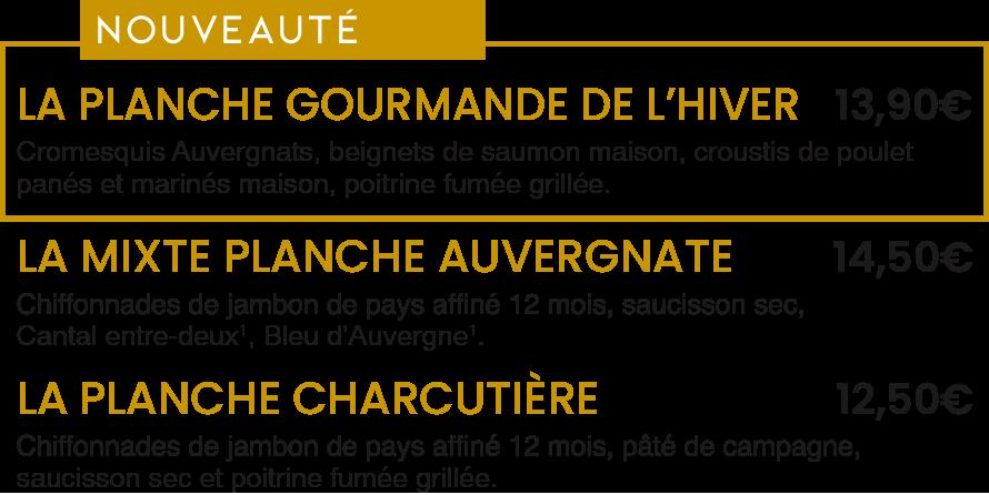 Les Planches du Terroir / La Mangoune